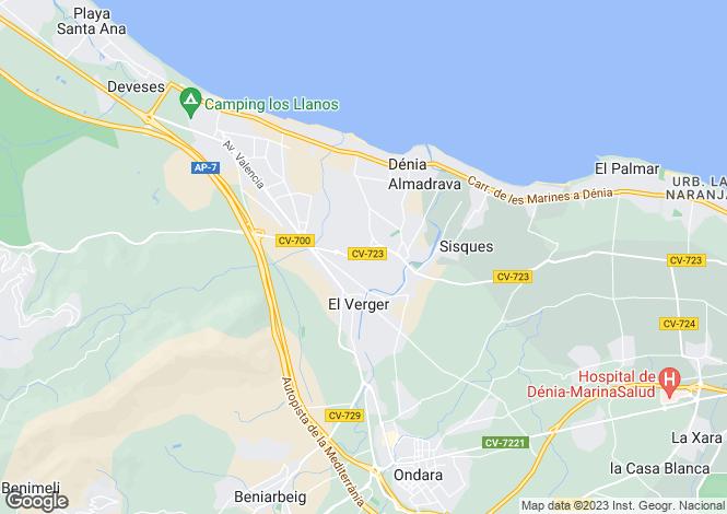 Map for Els Poblets