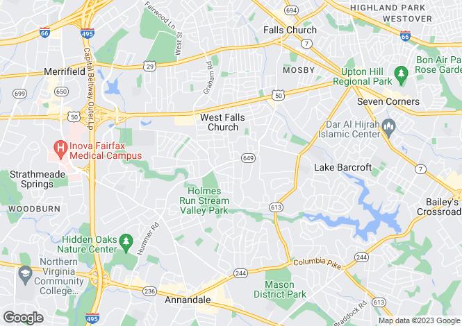 Map for USA - Virginia, Falls Church City, Falls Church