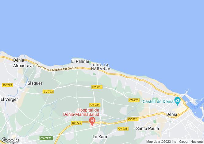Map for Denia, Spain
