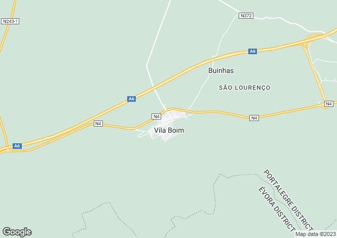 Map for Alto Alentejo, Elvas