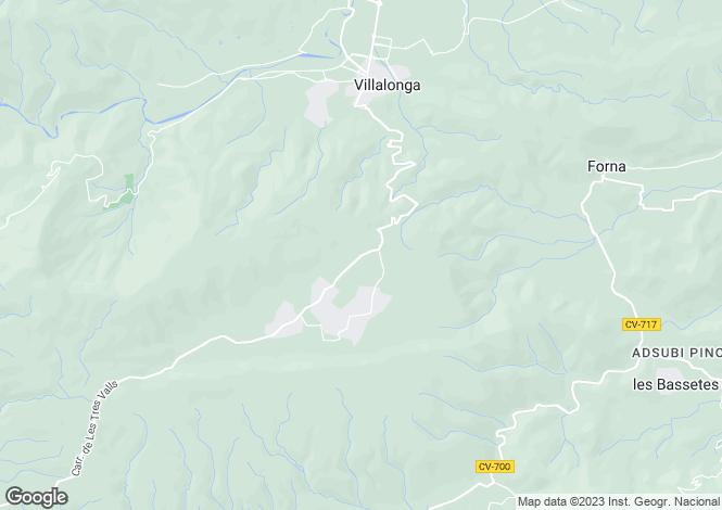 Map for Valencia, Valencia, Villalonga