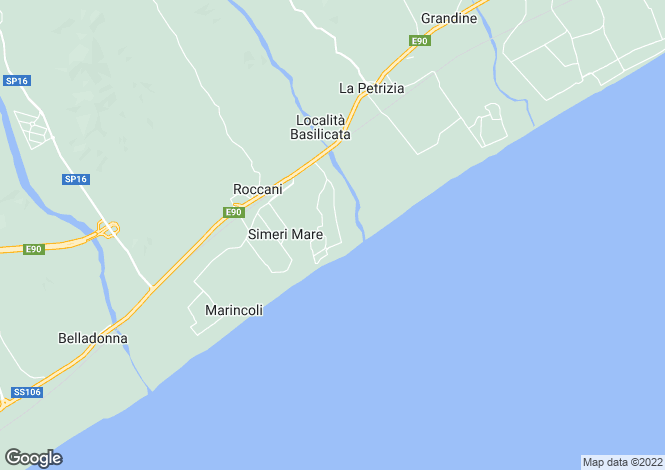 Map for Calabria, Catanzaro, Simeri-Mare