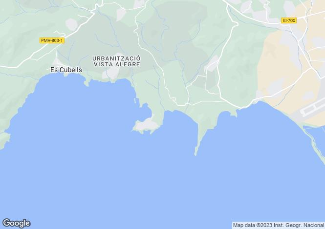 Map for Villa Marlin, Cala Jondal, Ibiza