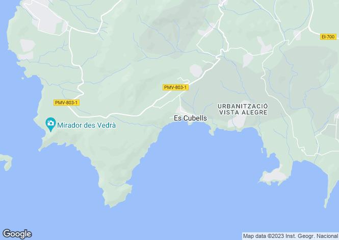 Map for Impressive front line villa with private sea access