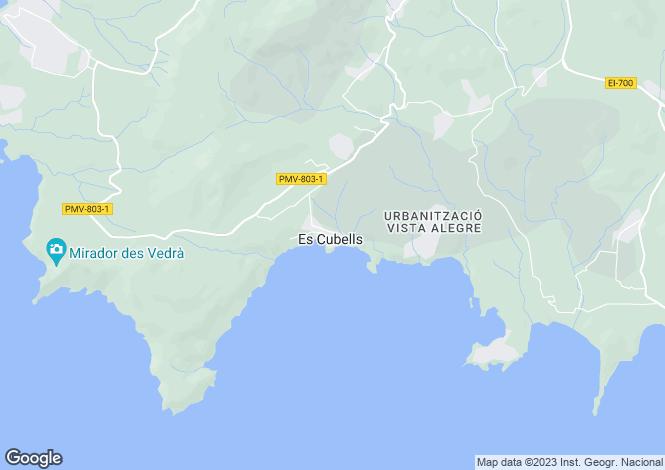 Map for Balearic Islands, Ibiza, San Jose