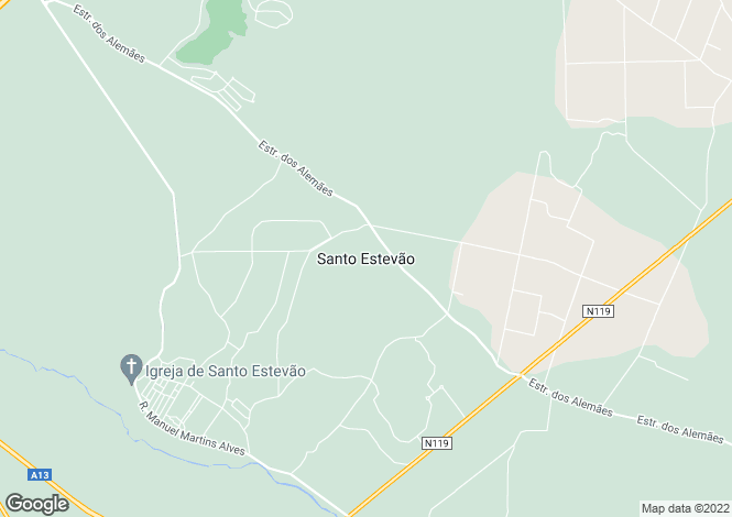 Map for Portugal,Santarém,Santo Estêvão