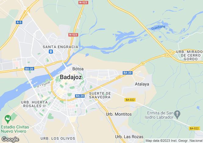 Map for Extremadura, Badajoz, Badajoz