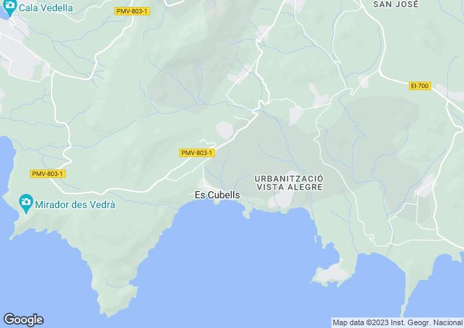 Map for Balearic Islands, Ibiza, San José