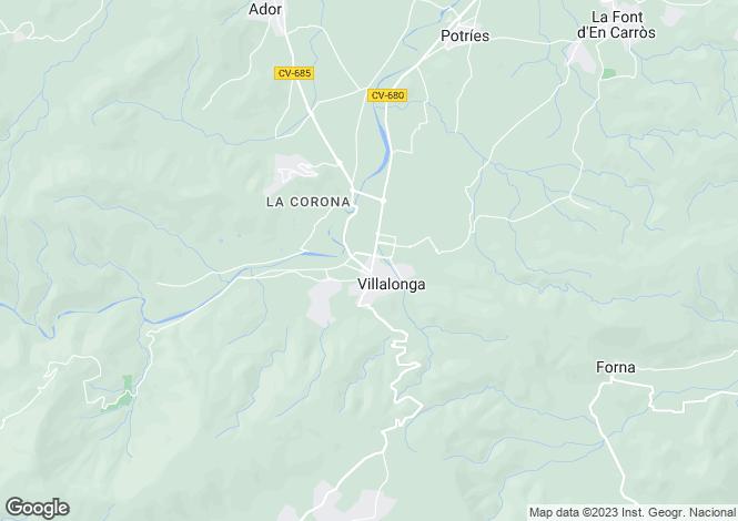 Map for Gandía, Valencia, Valencia
