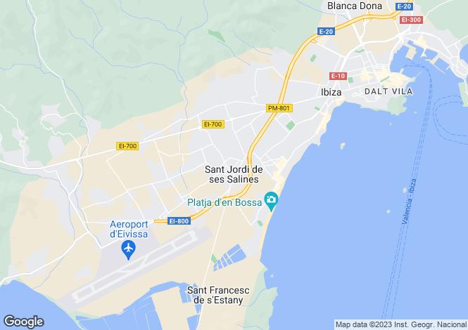 Map for Sant Jordi De Ses Salines, Ibiza, Balearic Islands