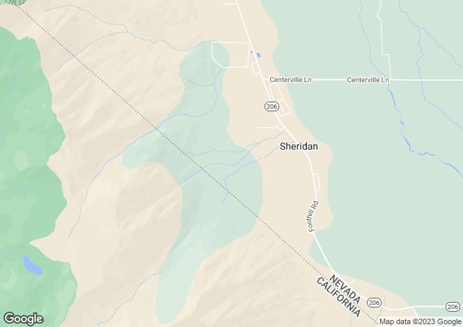 Map for Nevada, Douglas County, Gardnerville
