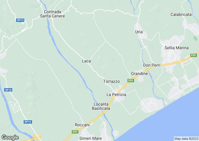 Map for Sellia Marina, Catanzaro, Calabria
