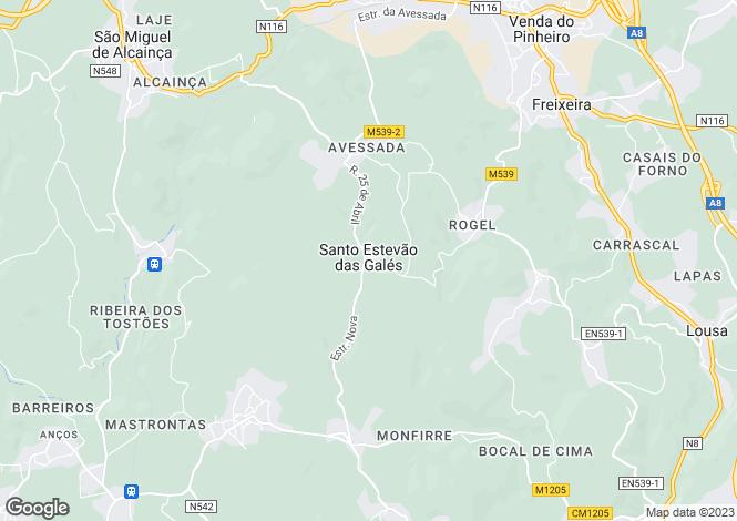 Map for Venda do Pinheiro e Santo Estêvão das Galés, Mafra, Lisboa
