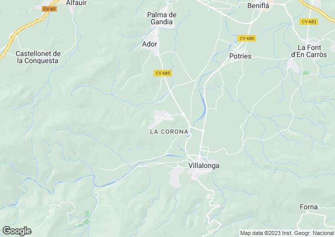 Map for Valencia, Valencia, Ador