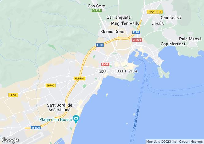 Map for Ses Feixes, Avenida 8 de Agosto,, Balearic Islands,, Ibiza, Spain