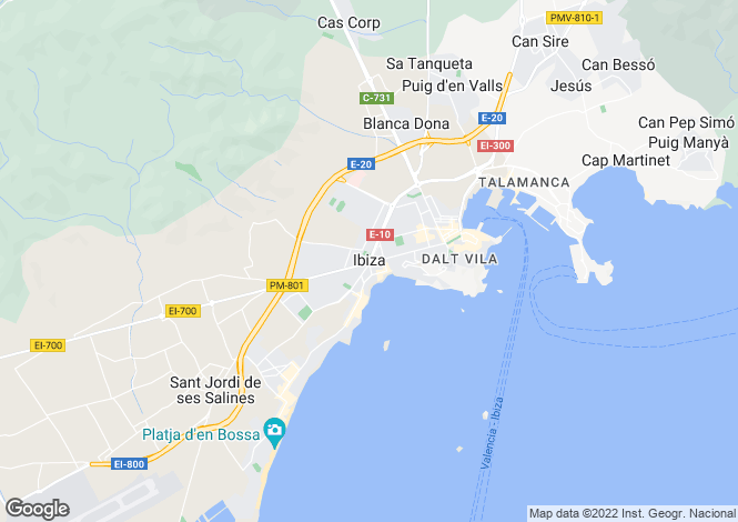 Map for Newly Renovated Apartment, Ibiza Town, Ibiza
