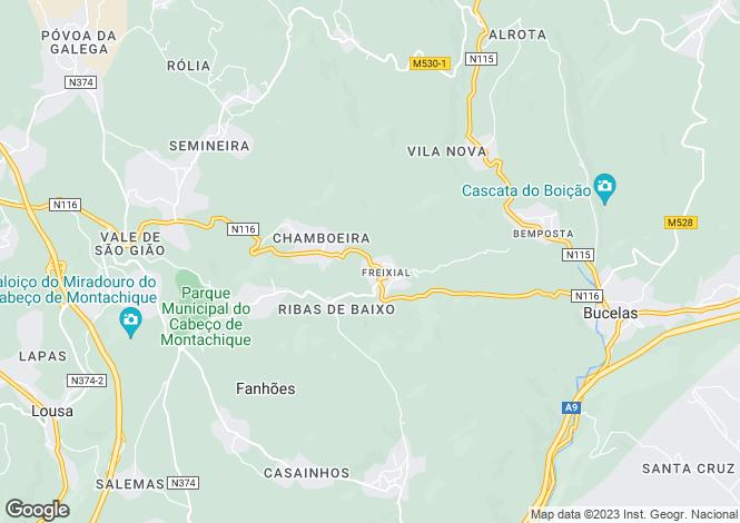 Map for Bucelas, Loures, Lisboa