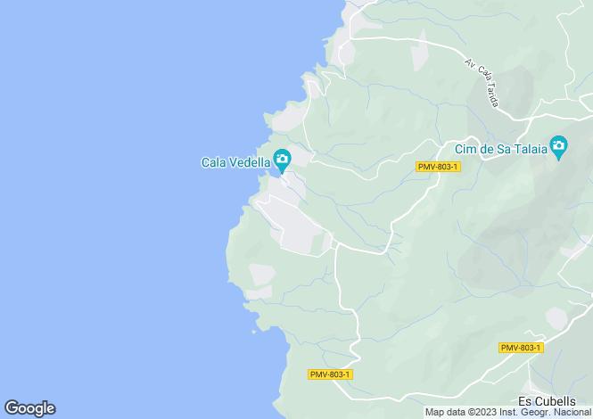 Map for Development Cala Vadella, Sant Josep, Ibiza, Spain
