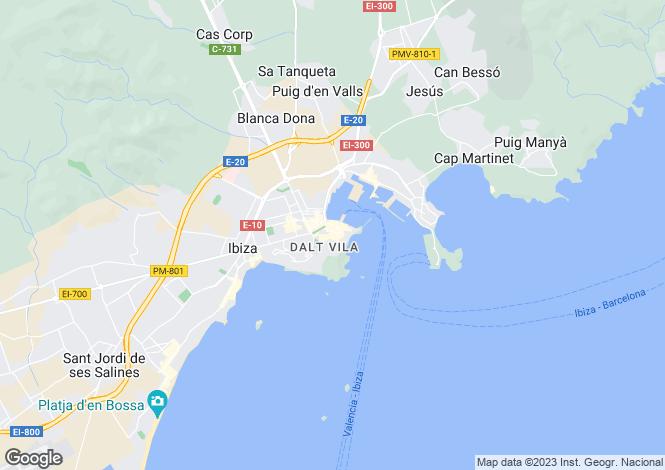 Map for Extraordinary Palace, Dalt Vila, Ibiza