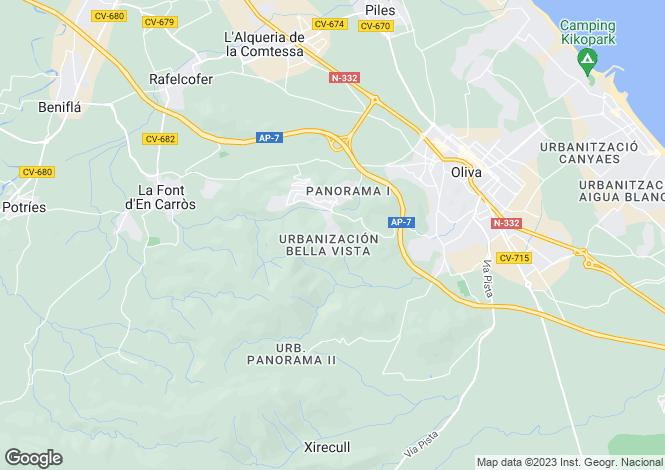 Map for Oliva, Valencia, Valencia