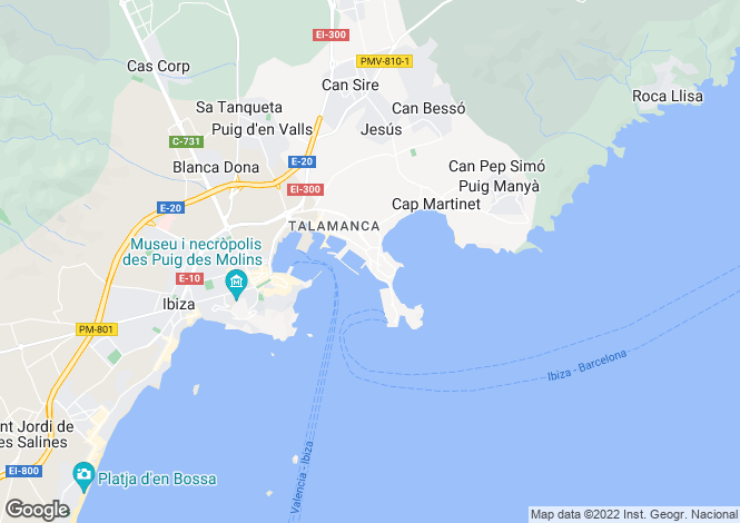 Map for Apartment In Ibiza Marinas, Ibiza City, Ibiza