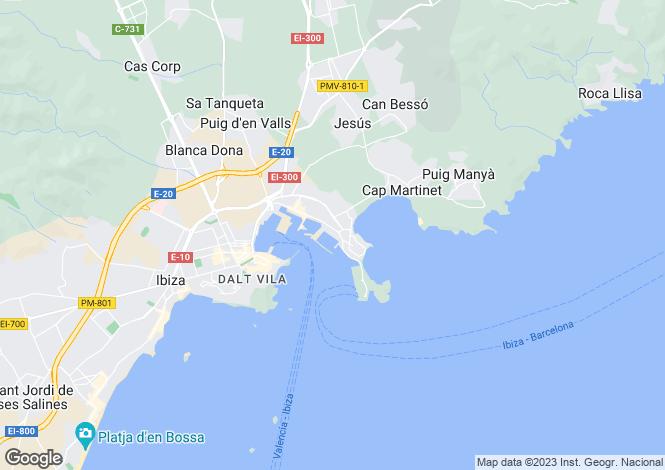 Map for Impressive Mansion, Jesus, Ibiza