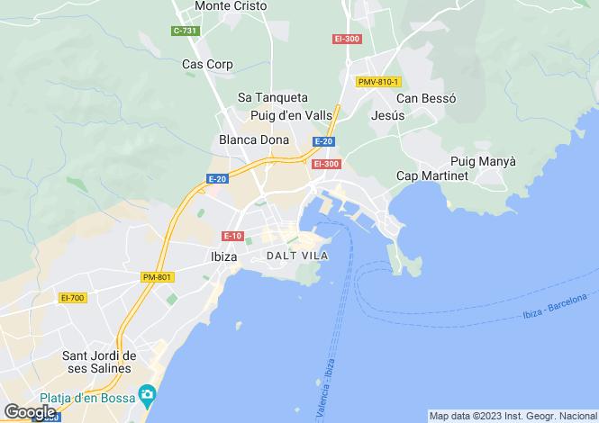 Map for Can Rimbau, Marina Botafoch, Jesus