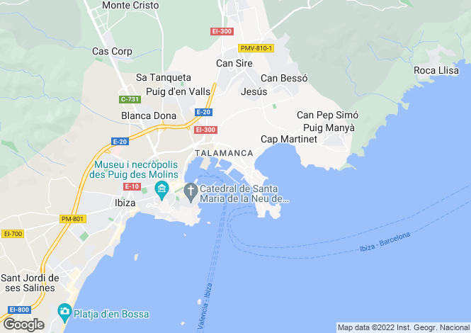 Map for Front Line Apartment, Paseo Marítimo, Ibiza