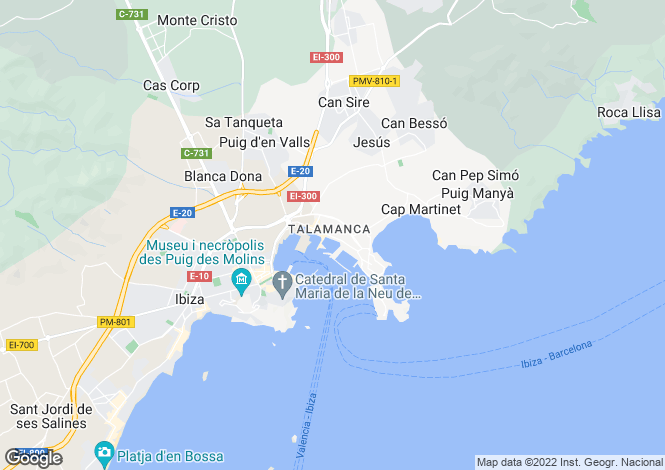 Map for Front Line Apartment, Ibiza Town, Ibiza