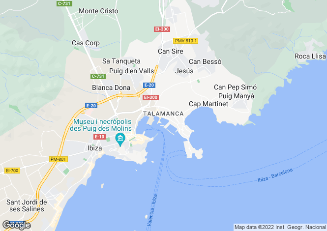 Map for Luxury Apartment, Ibiza City, Ibiza
