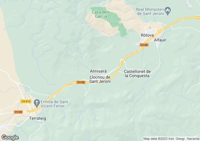 Map for Almiserat, Valencia, Valencia
