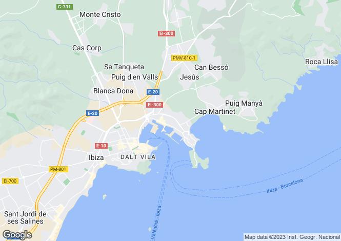 Map for Balearic Islands, Ibiza, Eivissa