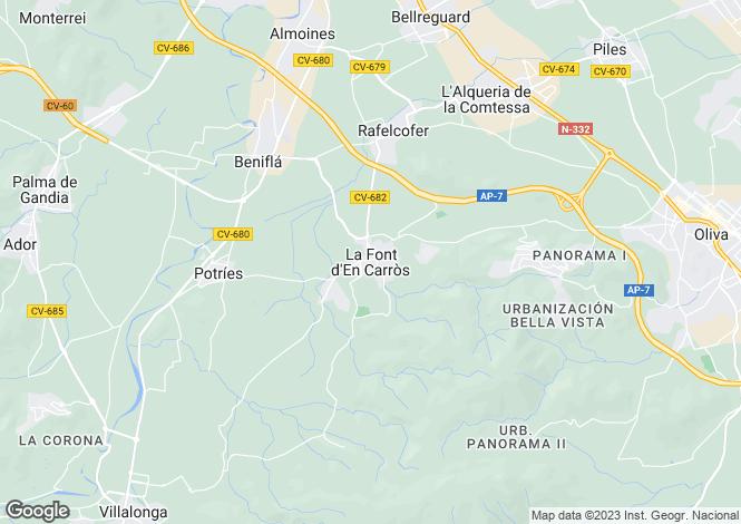 Map for Valencia, Valencia, La Font D'en Carros