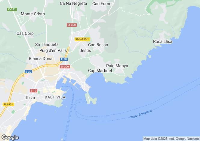 Map for Amancer, Cap Martinet, Ibiza