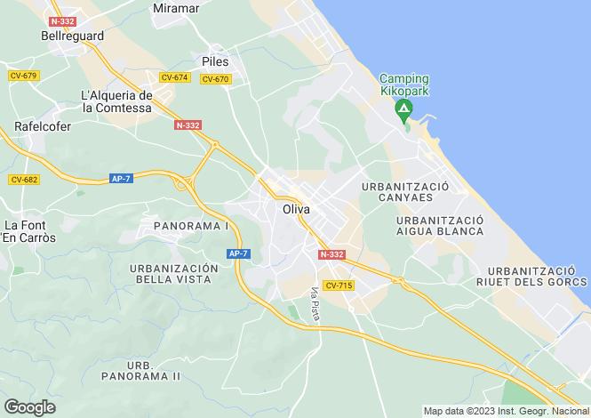 Map for Oliva