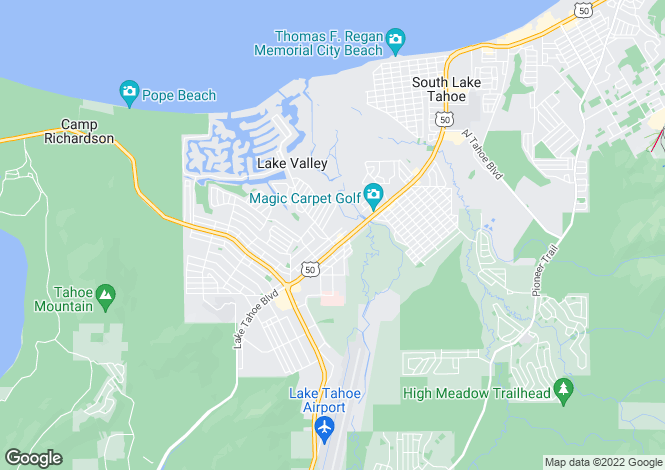Map for California, El Dorado County, South Lake Tahoe