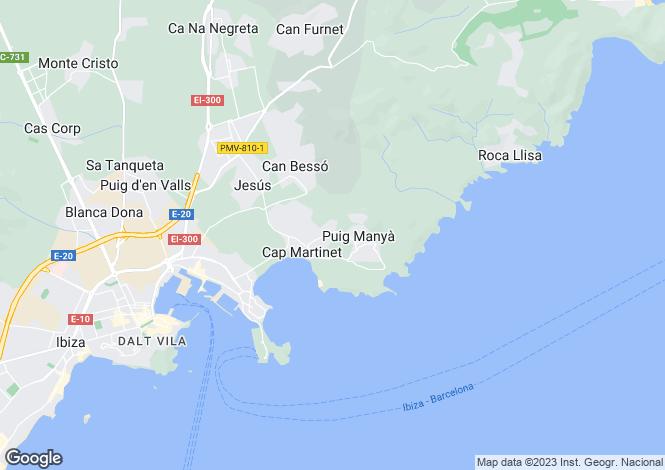 Map for Talamanca, Ibiza