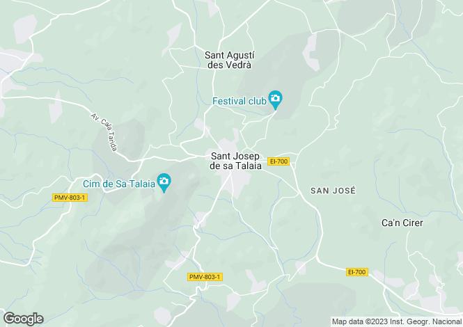 Map for Vista Royal, Calo D'En Real, Ibiza, Balearic Islands