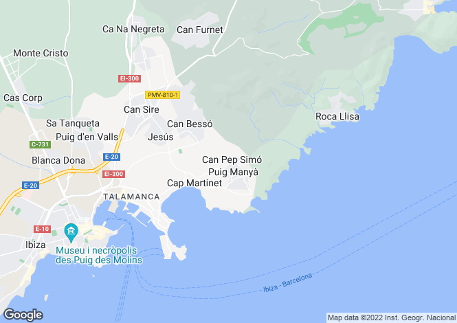 Map for Ibiza Palace, Jesus, Ibiza