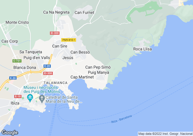 Map for West Orientated Golf Front Villa, Jesus, Ibiza