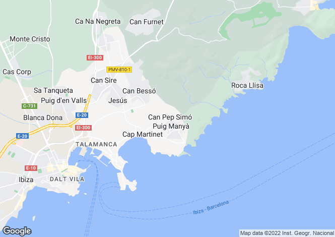 Map for Jesus, Ibiza, Balearic Islands