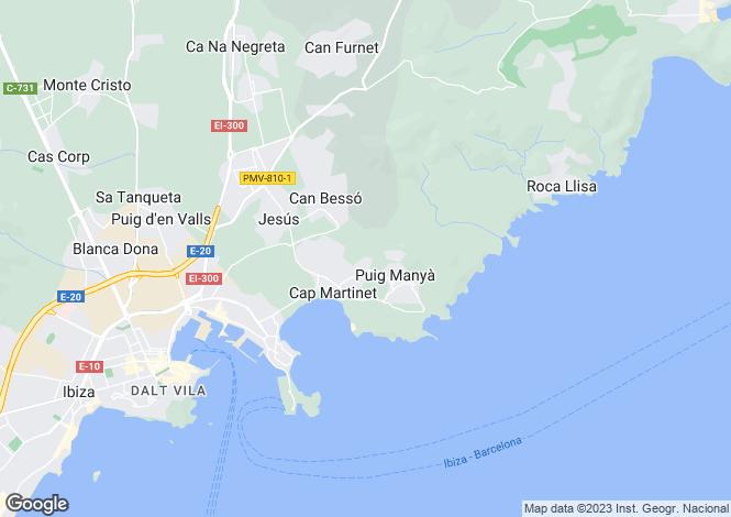 Map for Cap Martinet, Ibiza, Balearic Islands