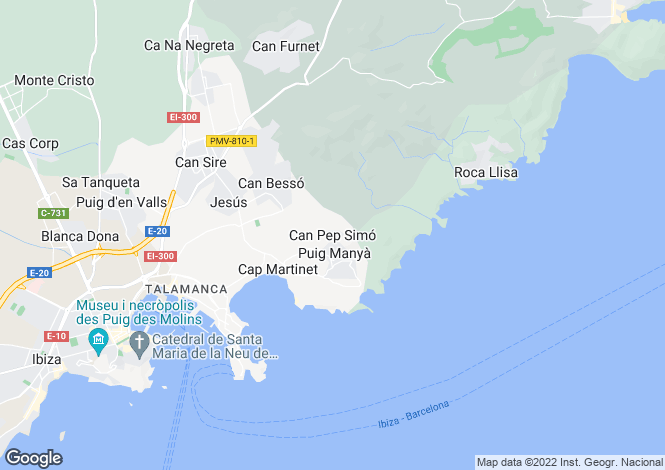 Map for Balearic Islands, Ibiza, Jesus