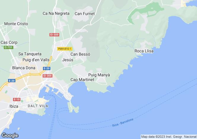 Map for Villa Juliette, Can Pep Simo, Jesus, Ibiza
