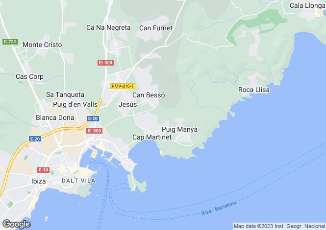 Map for Balearic Islands, Ibiza