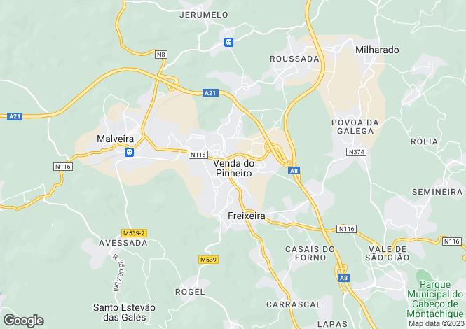 Map for Lisbon, Mafra