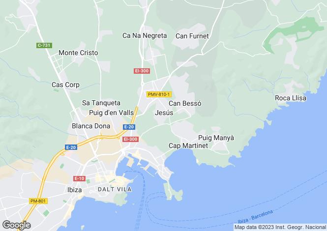 Map for Brand New Villa, Jesus, Ibiza