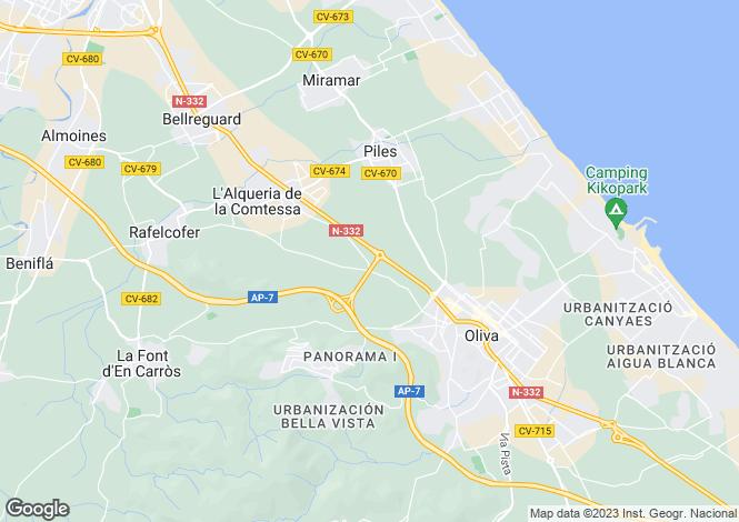 Map for Valencia, Valencia, Alquería de la Condesa
