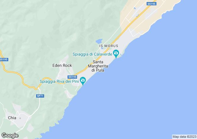 Map for Villa Bellaria, Santa Margherita di Pula, Sardinia