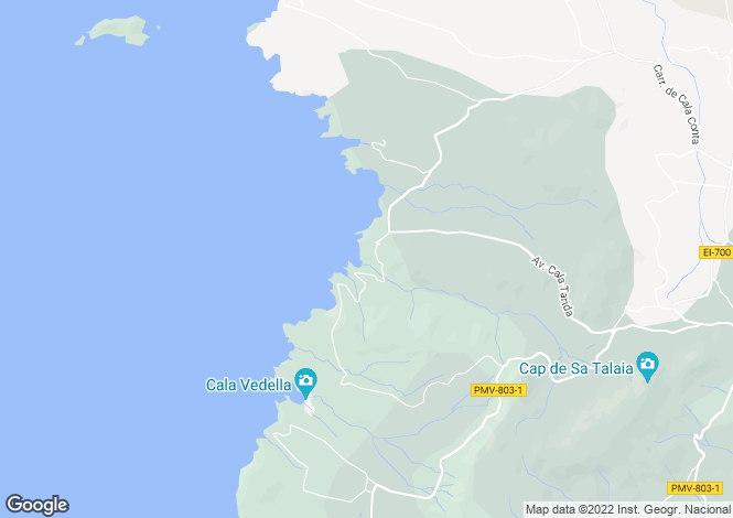 Map for Two Home Property With Sea View, Cala Moli, Ibiza
